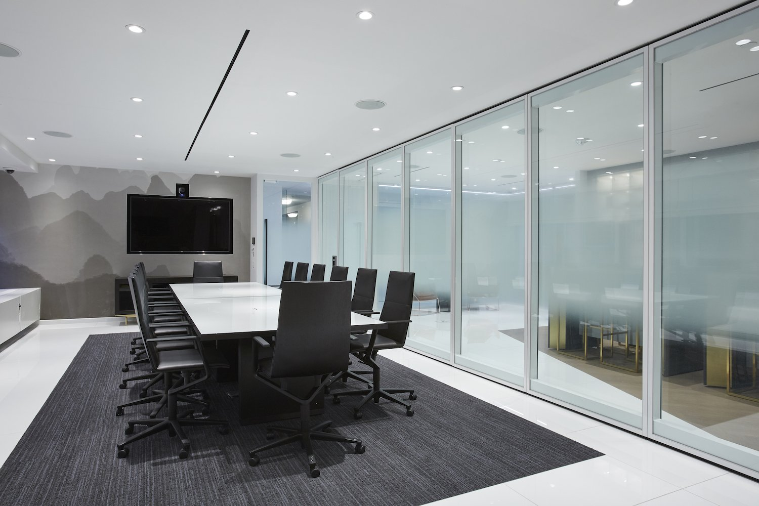 Meeting Room with glass walls