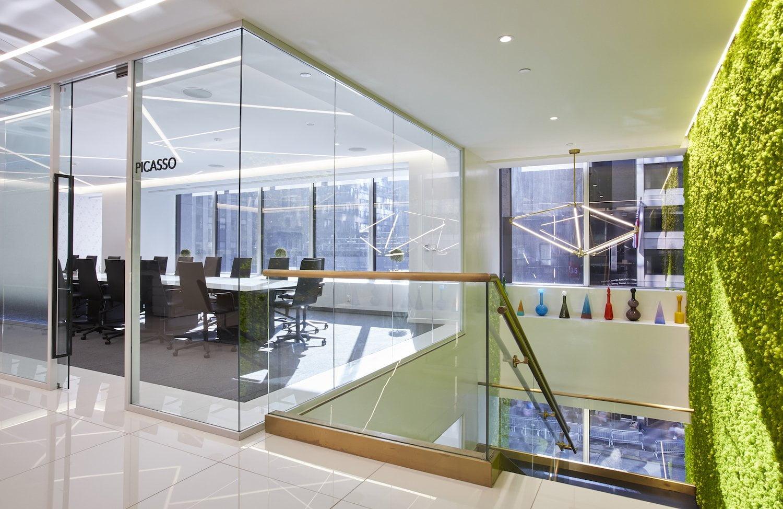 Stairway and meeting room