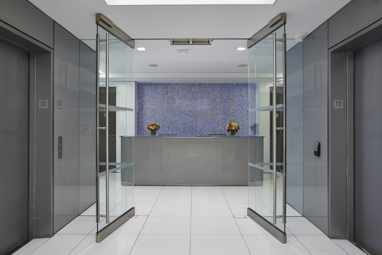 Glass Entrance to front desk